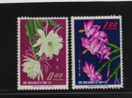 Taiwan 1964, Flowers, Minr 509-510, Mlh. Cv 13,50 Euro - 1945-... République De Chine