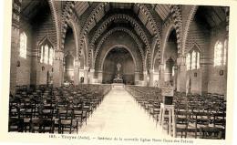 CPSM - TROYES - Intérieur De La Nouvelle Eglise Notre Dame Des Trévois - Troyes