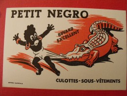 Buvard Petit Negro. Culottes Sous-vêtements. Crocodile. Vers 1950 - Animaux
