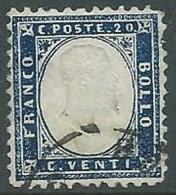 1862 REGNO USATO EFFIGIE 20 CENT - U43-8 - 1861-78 Vittorio Emanuele II