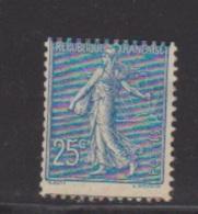 N 132 //  25 C Bleu Neuf  //  Pliure Gomme - Ungebraucht