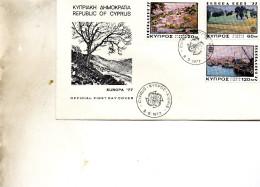 FDC    CHYPRE EUROPA  1977 TIMBRE  N° YVERT ET TELLIER 459/1  1977 - Brieven En Documenten