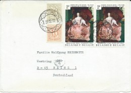 Belgium,Belgique,cover.letter Via Germany.stamp - 1972 The 200th Anniversary Of The Art Academy.nice Postmark.2 Scans - Covers & Documents