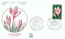 FLORA-L83 - ANDORRE FDC Fleurs Colchiques - Toxic Plants