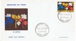 FLORA-L87 - TCHAD FDC Fleur De Coton