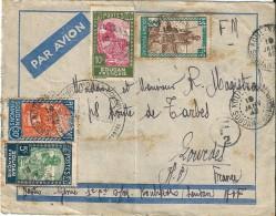 3  Enveloppes  -   Cachet  Au  Départ  Du (  SOUDAN  ) AFFRIQUE  à  Destination De LOURDES ( 65 )  F.M  Et Par Avion. - Sudan (1954-...)