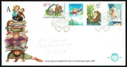 Jaar 1980 - FDC N° 189 -  Y/T N° 1141/44 -  Kinderzegels - Au Profit De L'enfance. - FDC