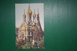 CARTOLINA SANREMO  - CHIESA RUSSA   - INTERESSANTE ANNULLO A BARE DIRITTE - 1942 - Churches & Cathedrals