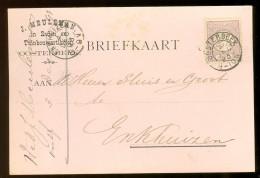 HANDGESCHREVEN BRIEFKAART Uit 1893 GELOPEN Van KLEINRONDSTEMPEL OOSTERBEEK Naar ENKHUIZEN *  NVPH 33 (10.454g) - Period 1891-1948 (Wilhelmina)