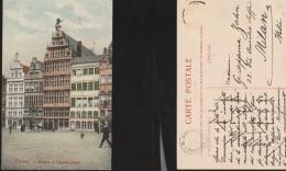 5829) ANVERS MAISON DE CHARLE QUINT VIAGGIATA 1910 CIRCA - Non Classificati