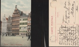 5829) ANVERS MAISON DE CHARLE QUINT VIAGGIATA 1910 CIRCA - Belgio