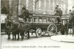 """OMNIBUS A CHEVAUX ,"""" Madeleine--  Bastille""""  1875 - Autobús & Autocar"""