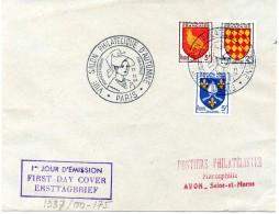 1954 -  FDC  YT N° 1003-1005 - GF Salon D´Automne - Cote: 60,00 € - Date: 11-11-1954 - 1950-1959