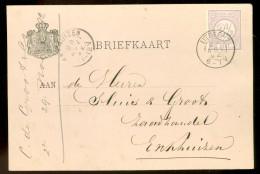 HANDGESCHREVEN BRIEFKAART Uit 1892 GELOPEN Van KLEINRONDSTEMPEL UTRECHT  Naar ENKHUIZEN *  NVPH 33 (10.454x) - 1891-1948 (Wilhelmine)