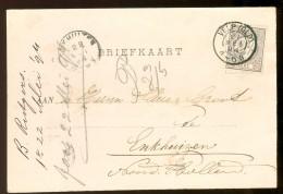 HANDGESCHREVEN BRIEFKAART Uit 1894 GELOPEN Van KLEINRONDSTEMPEL VELP (GLD.)  Naar ENKHUIZEN *  NVPH 33 (10.455a) - Periode 1891-1948 (Wilhelmina)