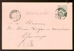 HANDGESCHREVEN BRIEFKAART Uit 1894 GELOPEN Van KLEINRONDSTEMPEL VEENDAM  Naar GRONINGEN *  NVPH 33 (10.455b) - Periode 1891-1948 (Wilhelmina)