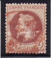 France 1862 - N° 26 - Oblitération Rouge De Imprimés (2e Choix) - Marcophily (detached Stamps)