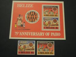 BELIZE - 1977 PAHO 2 VALORI + BF - NUOVI(++) - Belize (1973-...)