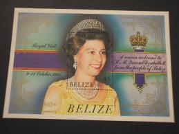 BELIZE - BF 1985 VISITA REGINA  - NUOVO(++) - Belize (1973-...)