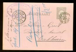 HANDGESCHREVEN BRIEFKAART Uit 1898 GELOPEN Van KLEINRONDSTEMPEL BERLIKUM (FRIESL:)  Naar ENKHUIZEN  NVPH 33 *  (10.458d) - Periode 1891-1948 (Wilhelmina)