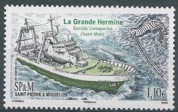 """Saint Pierre And Miquelon, Ship """"La Grande Hermine"""", 2016, MNH VF - Nuovi"""