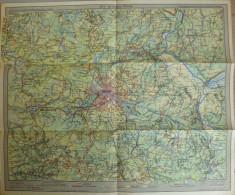 Die Mittlere Mark 40er Jahre - 34cm X 40cm 1:500'000 - Verlagsanstalt List & Von Bressendorf Leipzig - Topographische Karten