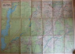 Pharus-Plan West- U. Südwest- Vororte Von Berlin 20er Jahre - Maßstab 1:23'100 54cm X 75cm - Lithographie U. Druck Des P - Topographische Karten