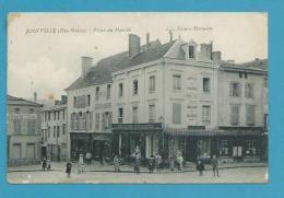 CPA Commerces Pharmacie Librairie Place Du Marché JOINVILLE  52 - Joinville
