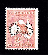1926 - AUSTRALIA - O/FINE CANCELLED - KANGAROO SMALL OS PERF. Yv Srv 34  Mi Di 39