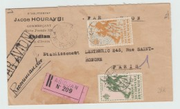 1946 - ENVELOPPE RECOMMANDEE D'ABIDJAN (COTE D'IVOIRE / AOF) - A.O.F. (1934-1959)