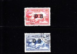 1932 - AUSTRALIA - O/FINE CANCELLED - SYDNEY BRIDGE OS OVERPRINT Yv Srv 63/64
