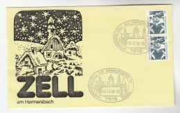 1990 ZELL Am HARMERSBACH Special  CHRISTMAS EVE EVENT COVER Stamps Germany - Christmas
