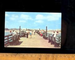 VIRGINIA BEACH VA : View Taken From End Of 1912 Foot Fishing Pier Towards The Beach  1952 - Virginia Beach