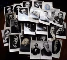 LOT 28 CARTES POSTALES ANCIENNES MUSICIENS ET COMPOSITEURS EN NOIR ET BLANC - Music And Musicians