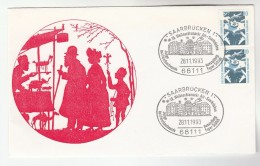 1993 SAARBRUCKEN Special  CHRISTMAS MARKET EVENT COVER Stamps Germany - Christmas