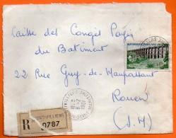 MONTIVILLIERS  Recommandé 1961  Devant De Lettre N° X 919 - Marcophilie (Lettres)