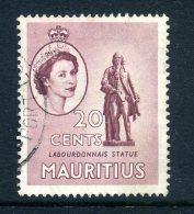 Mauritius 1953-58 QEII Pictorials - 20c Labourdonnais Statue Used - Maurice (...-1967)