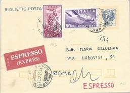 1977 Biglietto Postale Espresso L.  300 + 50 P.A. Campidoglio Da Ravenna Per Roma - 6. 1946-.. Repubblica