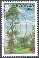 Rwanda 1995 Michel 1467A O Cote (2005) 5.75 Euro Plante Markhamia Lutea Cachet Rond - Rwanda