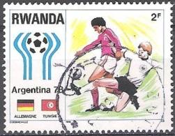 Rwanda 1978 Michel 947 O Cote (2005) 0.50 Euro Coupe Du Monde De Foot Argentina Cachet Rond - Rwanda