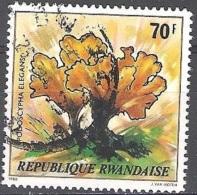 Rwanda 1980 Michel 1057 O Cote (2005) 2.50 Euro Fleur Podoscypha Elegans Cachet Rond - Rwanda