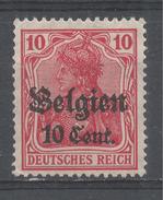 Belgium, German Occupation 1916, Scott #N14 Germania (MH) - Zone Belge