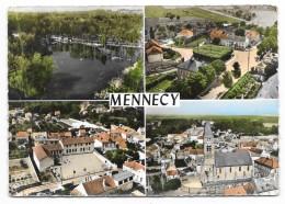 Cpsm: 91 MENNECY (ar. Evry) En Avion Au Dessus De... (Multivues, Aérienne)  1962  N° 101 - Mennecy