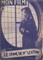 "Mon Film/Périodique/""!Le Crime De Mme Lexton""/ Wood/Joan Fontaine / Herbert Marshall /Héléna Carter/1948   CIN65 - Cine / Televisión"
