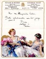 Telegram Telegramme Gelukwensen  Berchem 1933  Belgie Belgique Message Telegramm Huwelijk Marriage Mariage - Boda