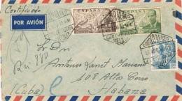 18247. Carta  Aerea Certificada  MELILLA 1951 A Habana (Cuba) - 1931-Aujourd'hui: II. République - ....Juan Carlos I