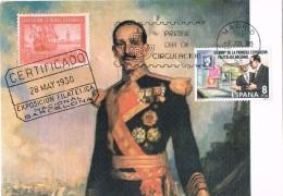 18248. Tarjeta Maxima ALFONSO XIII . Madrid 1980 - Tarjetas Máxima