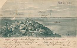 TAMPICO - 1902 , Hafeneinfahrt - Mexique