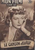 """Mon Film/Périodique/""""Le Garçon Sauvage""""/Jean Delannoy/Gibé/Madeleine Robinson/Frank Villard/Pierre Michel Beck/1952CIN72 - Cinéma/Télévision"""