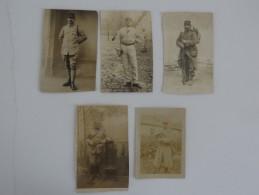 LOT DE 5 PHOTOS DE MILITAIRE - 1914-18